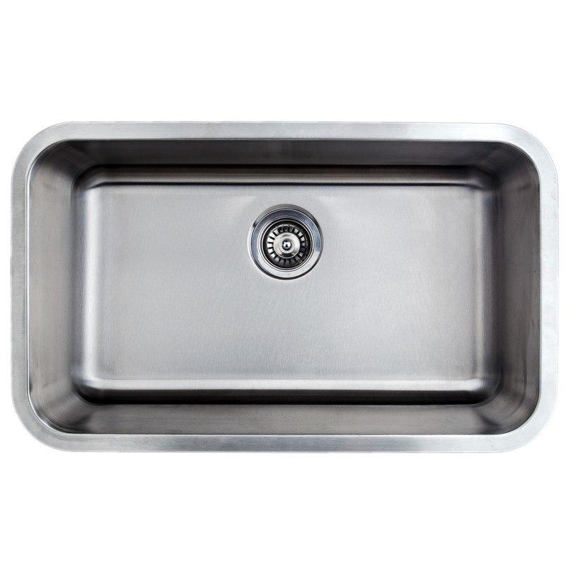 Wells Sinkware CMU3018 9 1 Craftsmen Series 30 Inch Undermount 18 Gauge  Single Bowl Stainless Steel Kitchen Sink.