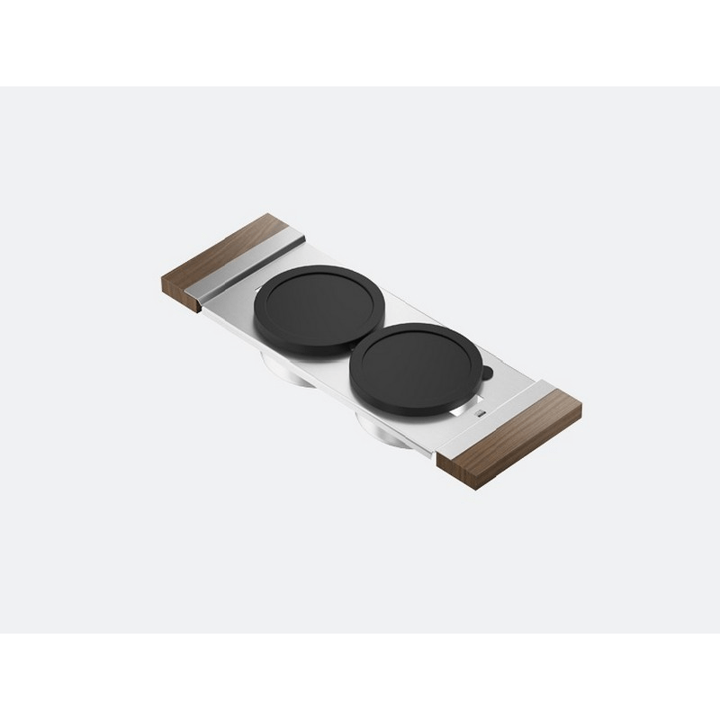 JULIEN 225201 SERVING BOARD 6 INCH WITH TWO BOWLS FOR 16 INCH SINK WITH WALNUT HANDLES