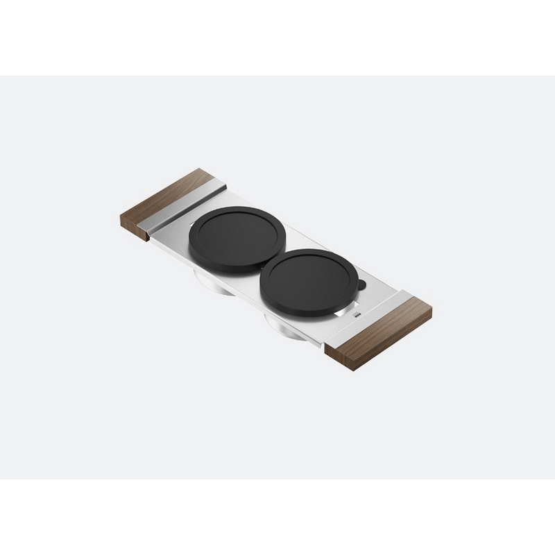 JULIEN 225202 SERVING BOARD 6 INCH WITH TWO BOWLS FOR 17 INCH SINK WITH WALNUT HANDLES