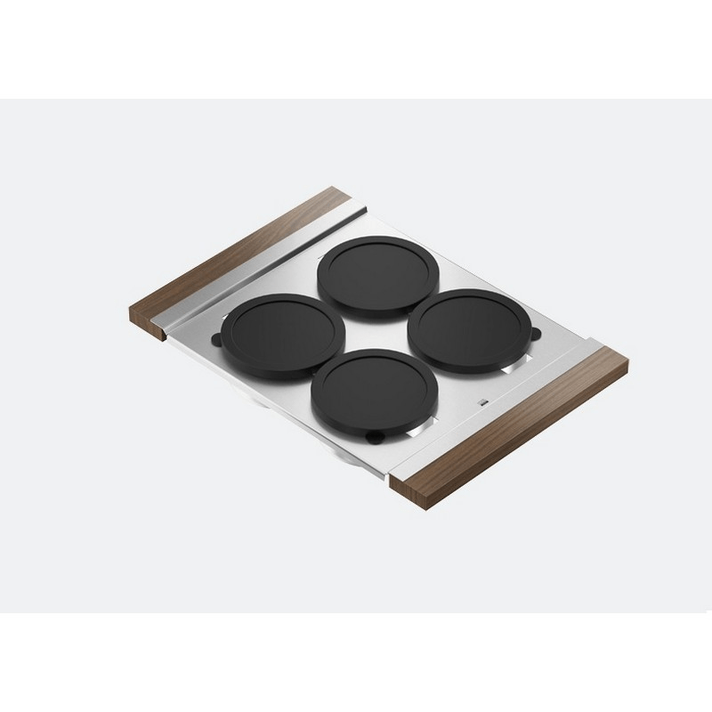 JULIEN 225205 SERVING BOARD 12 INCH WITH FOUR BOWLS FOR 17 INCH SINK WITH WALNUT HANDLES