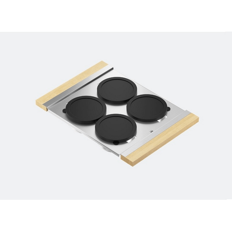 JULIEN 225304 SERVING BOARD 12 INCH WITH FOUR BOWLS FOR 16 INCH SINK WITH MAPLE HANDLES