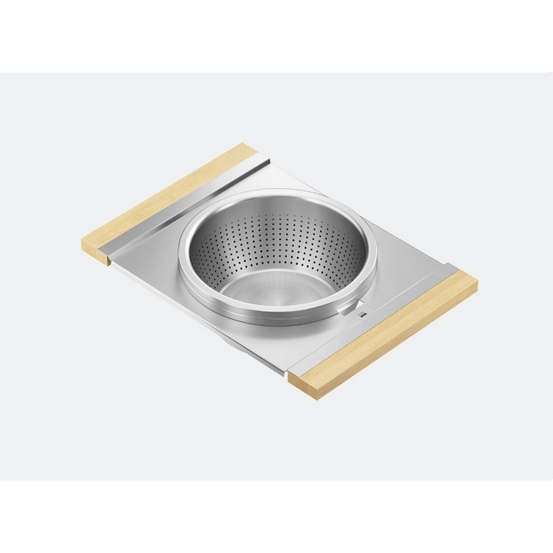 JULIEN 225308 SERVING BOARD 12 INCH WITH BOWL AND COLANDER FOR 17 INCH SINK WITH MAPLE HANDLES
