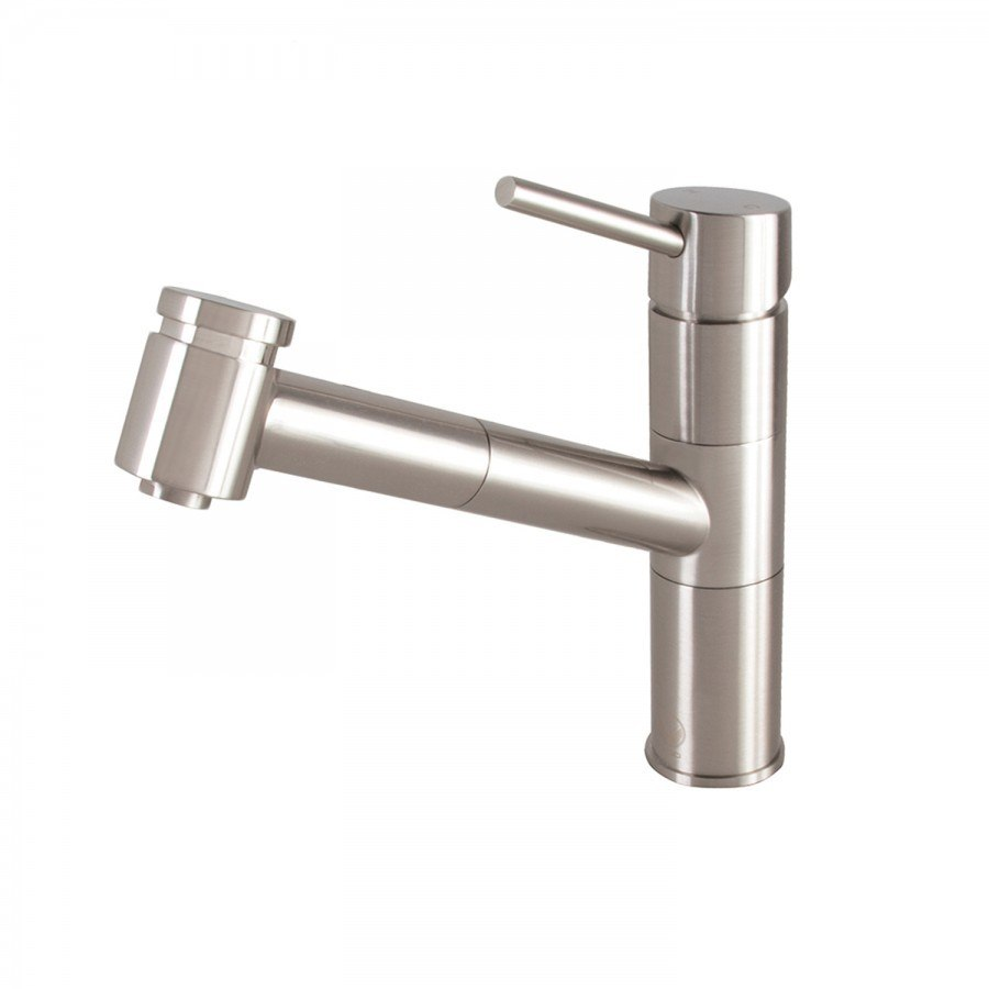 Vigo VG02021ST Branson Stainless Steel Pull-Out Spray Kitchen Faucet