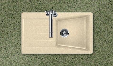 Houzer CITY D-100 COLORADO 33-7/8 Inch Single Bowl w/ Drainer Board