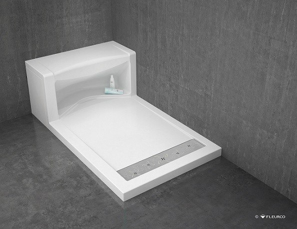 Fleurco ASER6036-18 Alessa 60 x 36 Inch Shower Base with Seat