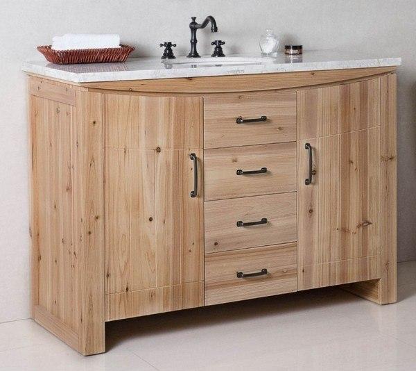 Bellaterra 6001r 48 Nl Jw 48 Inch Single Sink Vanity Solid Fir In Natural