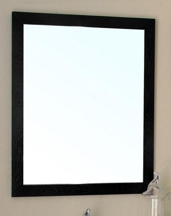 BellaTerra Home 804375-MIR-24-BL 24 Inch Framed Mirror in Black Oak ...