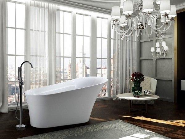 BELLATERRA BA6519 AREZZO 67 INCH FREESTANDING BATHTUB IN GLOSSY WHITE