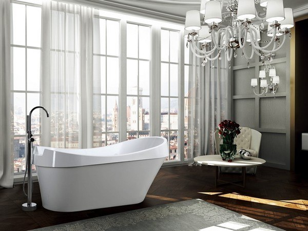 BELLATERRA BA6801 BARLETTA 69 INCH FREESTANDING BATHTUB IN GLOSSY WHITE