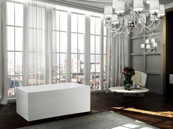 BellaTerra BA6816B Catania 67 Inch Freestanding Bathtub in Glossy White