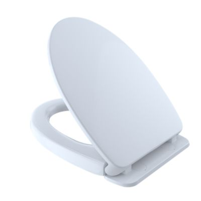 TOTO SS124 SOFTCLOSE ELONGATED TOILET SEAT AND COVER FOR USE WITH WASHLET+ TOILETS