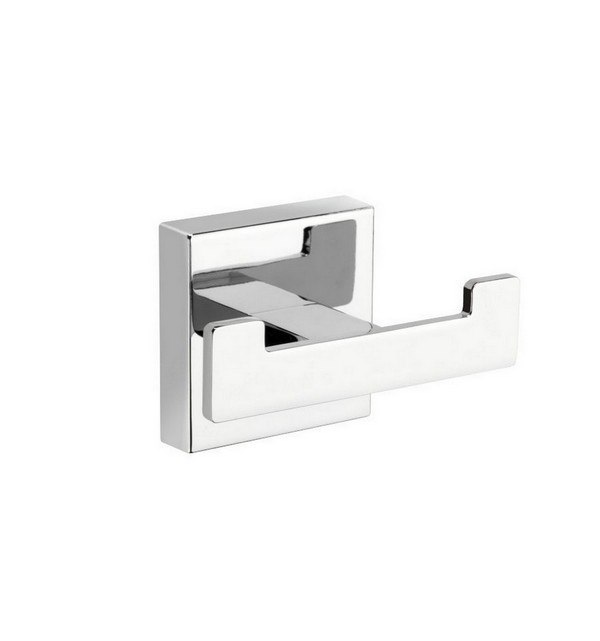 KUBEBATH 9725 AQUA PLATO DOUBLE ROBE HOOK