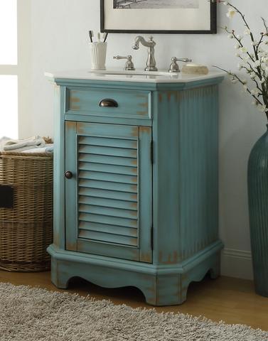 Abbey 24 Shaker Style Bathroom Vanity With Quartz Top