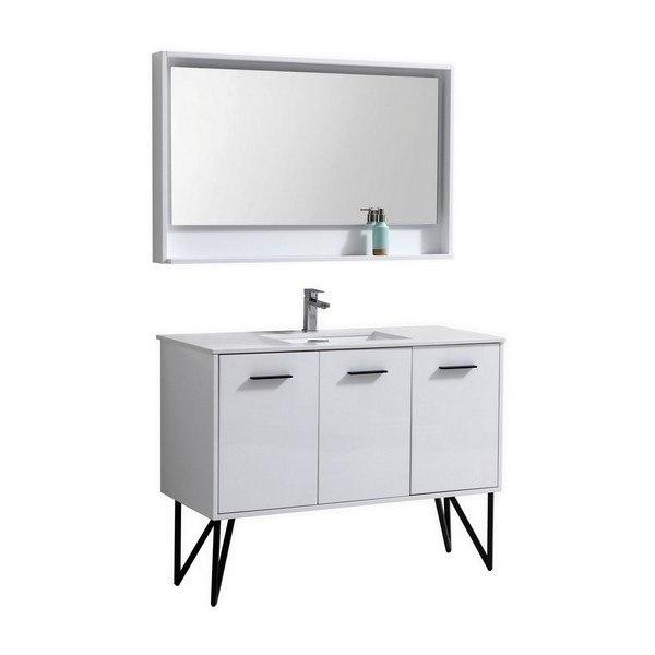 Kubebath KBGW Bosco Inch Modern Bathroom Vanity With Quartz - 48 inch modern bathroom vanity