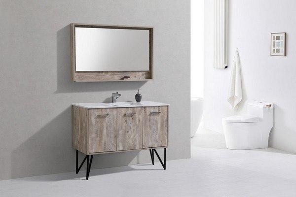 Kubebath KBNW Bosco Inch Modern Bathroom Vanity With Quartz - 48 inch modern bathroom vanity