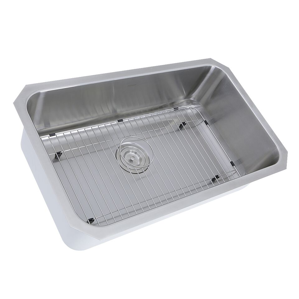 Nantucket Sinks NS43-11-16 Sconset 30 Inch Large Rectangle Single Bowl  Undermount Stainless Steel Kitchen Sink, 11 Inches Deep