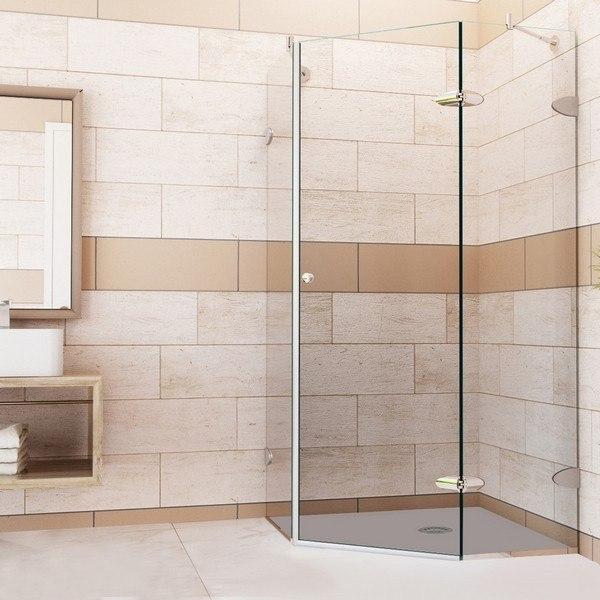 Vigo VG6061 36x36 Frameless 36 Inch Tempered Glass Shower Enclosure