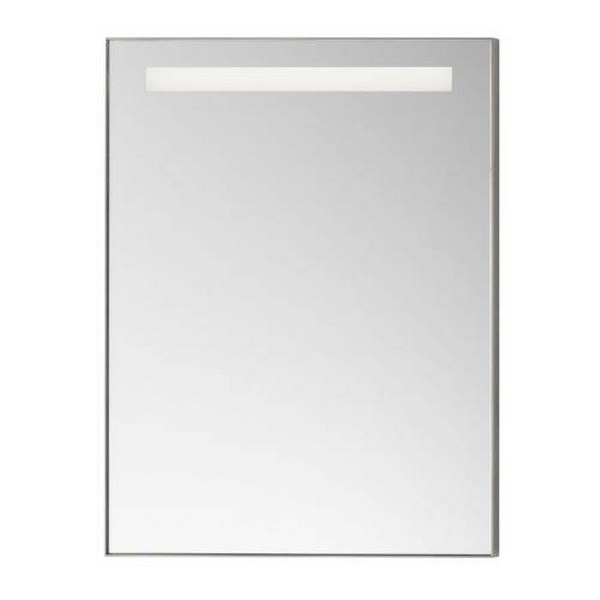 Ronbow 602523 Bn Contemporary 22 X 30 Inch Metal Framed Bathroom Mirror W Led In Brushed Nickel
