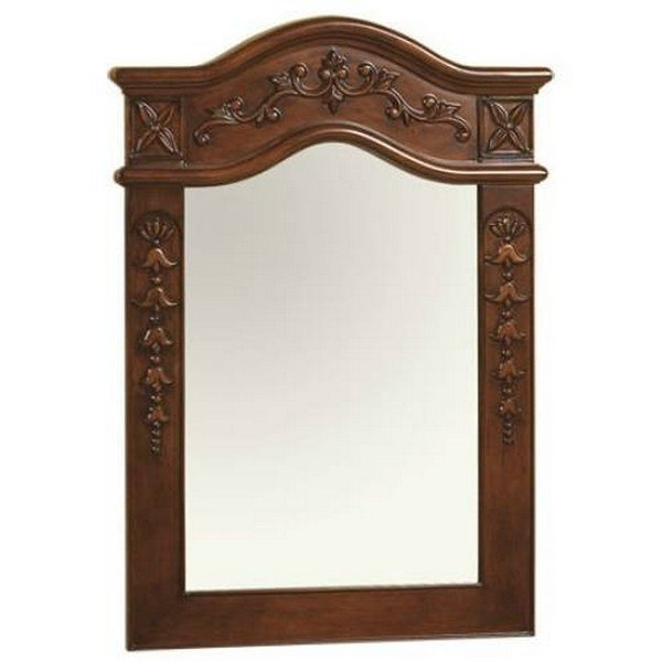 Ronbow 607224-F11 Bordeaux Traditional 24 x 34 Inch Solid Wood Framed Bathroom Mirror in Colonial Cherry