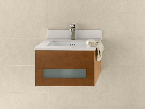 RONBOW 010123-1-F08 REBECCA 23 INCH WALL MOUNT BATHROOM VANITY BASE CABINET IN CINNAMON