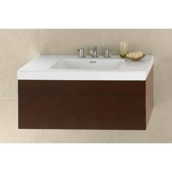 RONBOW 010123-3-F08 REBECCA 23 INCH WALL MOUNT BATHROOM VANITY BASE CABINET IN CINNAMON