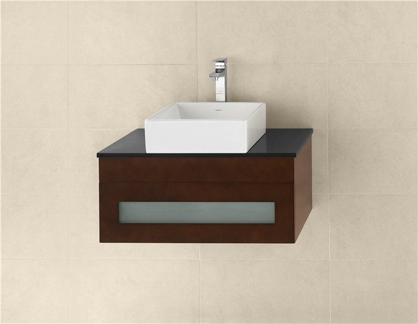 RONBOW 010131-1-H01 REBECCA 31 INCH WALL MOUNT BATHROOM VANITY BASE CABINET IN DARK CHERRY
