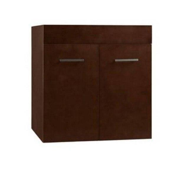 Ronbow 011223-H01 Bella 23 Inch Wall Mount Bathroom Vanity Base Cabinet in Dark Cherry
