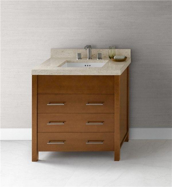 Ronbow 030331-F08 Kali 31 Inch Bathroom Vanity Base Cabinet in Cinnamon