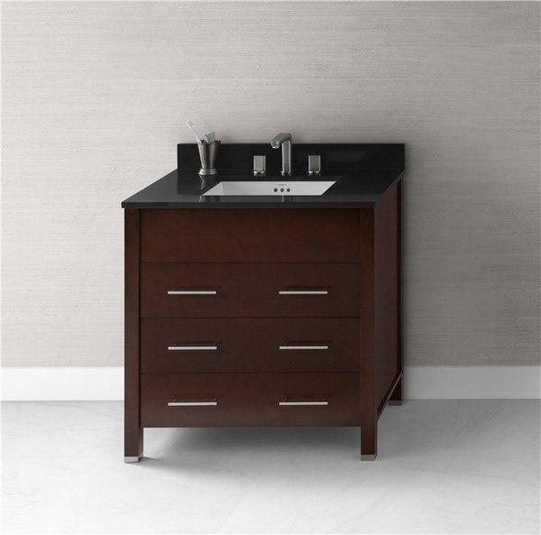Ronbow 030331-H01 Kali 31 Inch Bathroom Vanity Base Cabinet in Dark Cherry