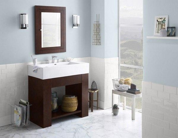 Ronbow 031436-H01 Zenia 36 Inch Bathroom Vanity Base Cabinet in Dark Cherry