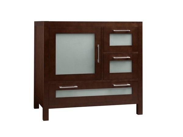 Ronbow 031536-1L-H01 Athena 36 Inch Bathroom Vanity Base Cabinet in Dark Cherry - Door on Left