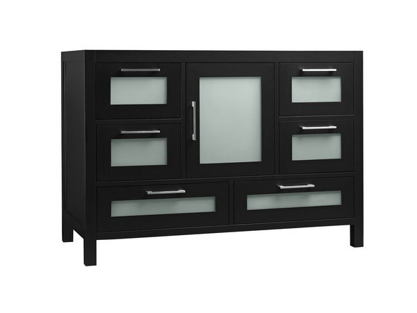 RONBOW 031548-1-B02 ATHENA 48 INCH BATHROOM VANITY BASE CABINET IN BLACK