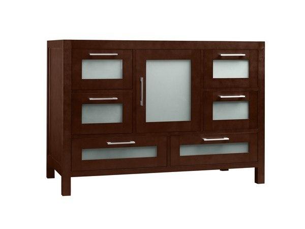 Ronbow 031548-1-H01 Athena 48 Inch Bathroom Vanity Base Cabinet in Dark Cherry