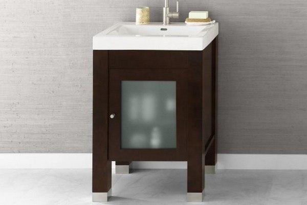 Ronbow 032523-1-F07 Devon 23 Inch Bathroom Vanity Base Cabinet in Vintage Walnut