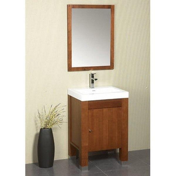 Ronbow 032523-3-F08 Devon 23 Inch Bathroom Vanity Base Cabinet in Cinnamon