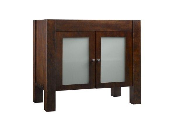 Ronbow 032536-1-F07 Devon 36 Inch Bathroom Vanity Base Cabinet in Vintage Walnut