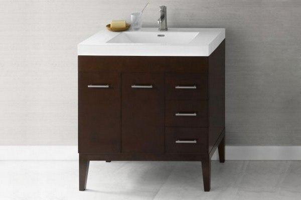 Ronbow 037036 7l H01 Venus 36 Inch Bathroom Vanity Base Cabinet In Dark Cherry Doors On