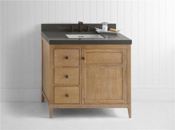 Ronbow 051736 3r R01 Briella 36 Inch Bathroom Vanity Cabinet Base In Vintage Honey Door On