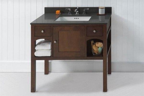 Ronbow 056136 F13 Langley 36 Inch Bathroom Vanity Cabinet Base In