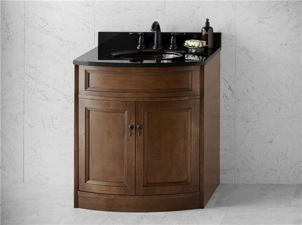 Ronbow 060630 F13 Marcello 30 Inch Bathroom Vanity Cabinet Base In Caf Walnut