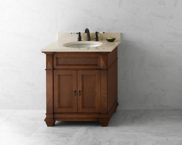 Ronbow 062830 F11 Torino 30 Inch Bathroom Vanity Cabinet Base In Colonial Cherry