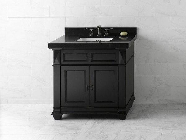 Ronbow 062836 B01 Torino 36 Inch Bathroom Vanity Cabinet Base In Antique Black