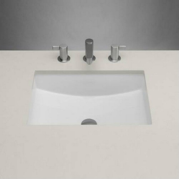 RONBOW 200520-WH RECTANGLE CERAMIC UNDERMOUNT BATHROOM SINK IN WHITE