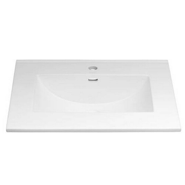 Ronbow 212225-1-WH Kara 25 Inch Ceramic Sinktop with Single Faucet Hole in White
