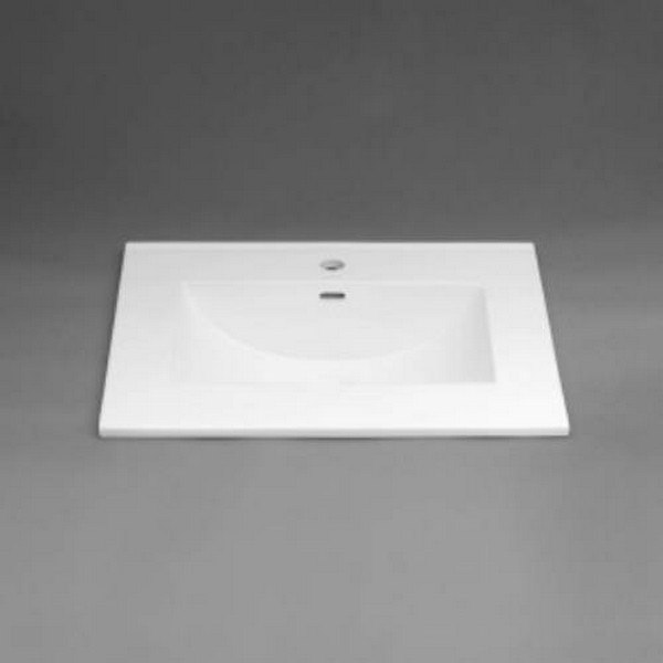 RONBOW 212231-1-WH KARA 31 INCH CERAMIC SINKTOP WITH SINGLE FAUCET HOLE IN WHITE