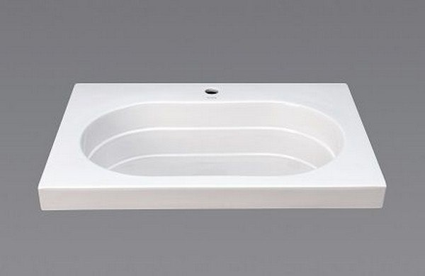 RONBOW 213331-1-WH ASHLAND 31 INCH CERAMIC UTILITY SINKTOP WITH SINGLE FAUCET HOLE IN WHITE