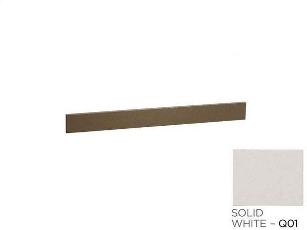Ronbow 370159-Q01 TechStone 59 x 3 Inch Backsplash in Solid White