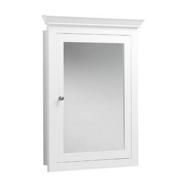 Ronbow 617026-W01 Neo-Classic Transitional Solid Wood Framed Medicine Cabinet in White