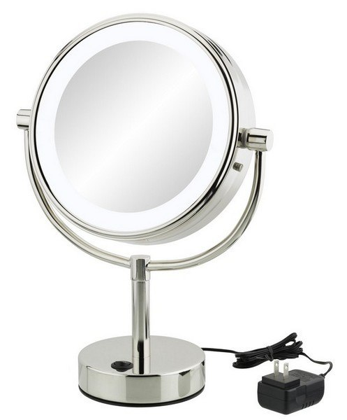Aptations 745-55-45 Neomodern LED Lighted Freestanding Mirror in Chrome