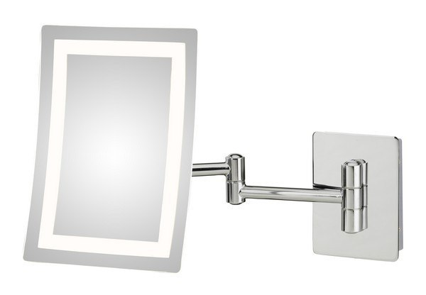 APTATIONS 949-35-43HW SINGLE-SIDED LED RECTANGULAR HARDWIRED WALL MIRROR IN CHROME